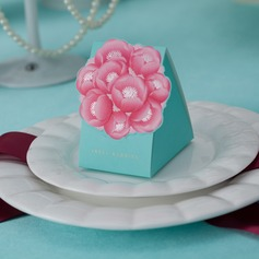 Floral Design Cuboid Favor Boxes