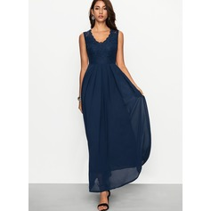 Polyester With Stitching Maxi Dress (199170604)