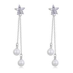 Beautiful Zircon Pearl Copper Ladies' Fashion Earrings