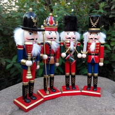 Christmas Decorations Wooden Crafts Decorative Ornaments Gifts Nutcracker Fresh Style