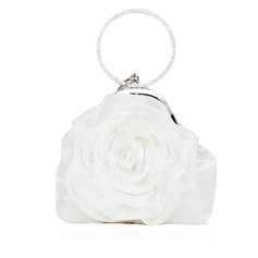Elegant Silk With Flower Wristlets/Bridal Purse