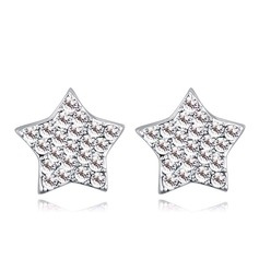 Vintage Alloy/Crystal With Crystal Ladies' Earrings