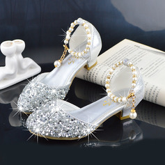 Girl's Round Toe Closed Toe Leatherette Flower Girl Shoes (207200913)