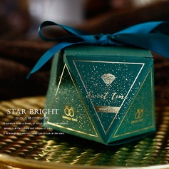Sweet Love diamond shape Card Paper Favor Boxes With Ribbons