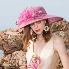 Ladies' Elegant Cambric Floppy Hats/Kentucky Derby Hats/Tea Party Hats