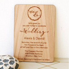 Personalized Wooden Invitation Cards