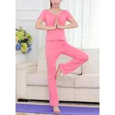 Women's Dancewear Cotton Yoga Tops Bottoms