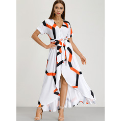 Polyester With Print Maxi Dress (199205602)