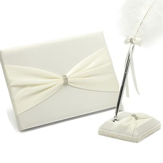 Pretty Rhinestones/Bow Guestbook & Pen Set