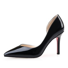 Women's Patent Leather Stiletto Heel Pumps Closed Toe shoes (085090440)