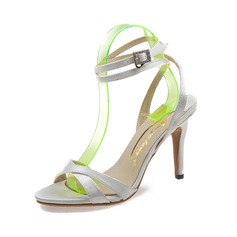 Women's Satin Stiletto Heel Sandals Pumps Peep Toe shoes