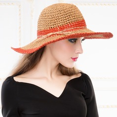 Ladies' Elegant Summer Papyrus With Straw Hat