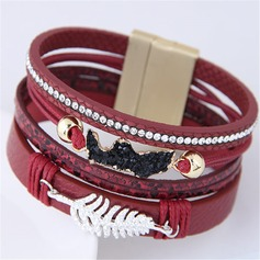 Shining Alloy Leatherette Ladies' Fashion Bracelets