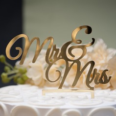 Mr. & Mrs. Acrylic Cake Topper (119074055)