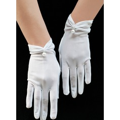 Tulle Wrist Length Bridal Gloves (014200791)