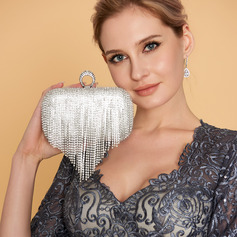 Refined Crystal/ Rhinestone Clutches/Satchel