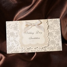 Classic Style Tri-Fold Invitation Cards With Ribbons  (114032380)