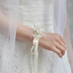 Classic Hand-tied Ribbon Wrist Corsage (Sold in a single piece) -