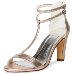 Women's Leatherette Sandals With Buckle