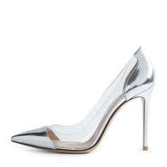 Women's Leatherette PVC Stiletto Heel Pumps Closed Toe With Others shoes