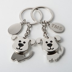 Personalized Puppies Zinc Alloy Keychains