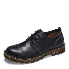Men's Real Leather Cap Toes Lace-up Casual Work Men's Oxfords