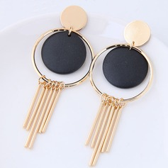 Unique Alloy Wood Women's Fashion Earrings (Set of 2)