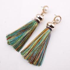 Alloy Imitation Pearls With Imitation Pearl Fashion Earrings (Set of 2)