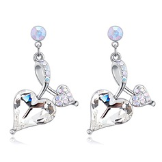 Beautiful Alloy/Crystal With Crystal Ladies' Earrings