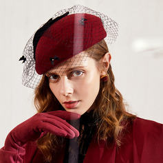 Ladies' Glamourous/Classic/Pretty Wool With Tulle Beret Hats
