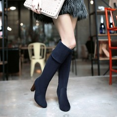 Women's Leatherette Stiletto Heel Pumps Closed Toe Over The Knee Boots shoes