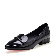 Women's Patent Leather Flat Heel Flats Closed Toe shoes