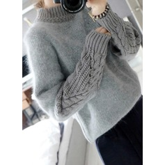 Cable-knit Mohair Turtleneck Sweater Sweaters (1002158855)