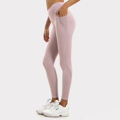 simple Doux Pour La Peau Extensible Sports Spandex Leggings De Sport