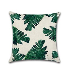 Rainforest Leaves Country Casual Linen Pillowcases (Sold in a single piece)