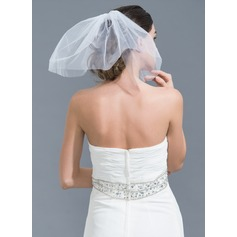 Two-tier Cut Edge Birdcage Veils