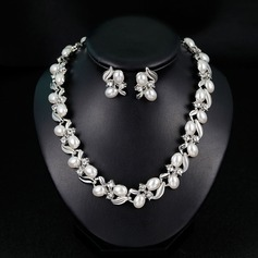 Elegant Alloy/Imitation Pearls With Imitation Pearls Ladies' Jewelry Sets