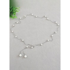 Fashional Alloy/Imitation Pearls Belt With Imitation Pearls