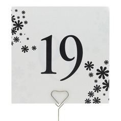 Flower Design Pearl Paper Table Number Cards