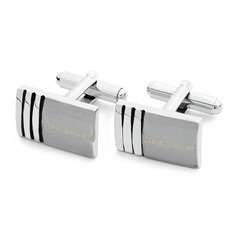 Personalized Stainless Steel Cufflinks (Set of 2)
