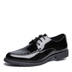 Men's Microfiber Leather Flats Modern With Lace-up Dance Shoes