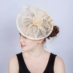 Ladies' Exquisite/Eye-catching/Romantic Cambric With Feather Fascinators/Kentucky Derby Hats/Tea Party Hats