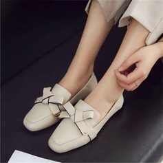 Women's PU Flat Heel Flats Mary Jane أحذية (086211721)