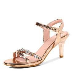 Women's PU Stiletto Heel Sandals Pumps With Buckle shoes (087165072)