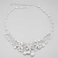 Gorgeous Alloy With Crystal/Imitation Pearls Ladies' Necklaces