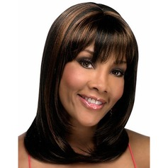 Medium Ombre Color Middle Part Capless Synthetic Wig
