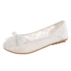 Women's Lace Flat Heel With Bowknot (047112554)