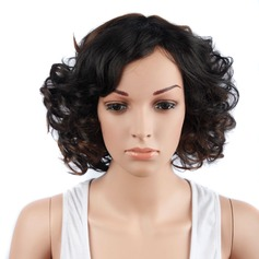 Curly Bob Mid-Length Synthetic Wigs (Sold in a single piece)