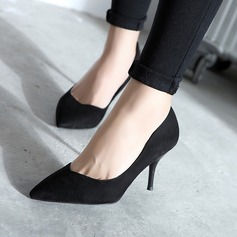 Women's Suede Spool Heel Pumps