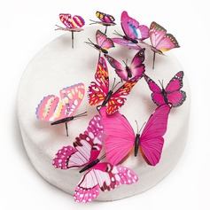 Butterfly/Colorful PVC Cake Topper (Set of 12)